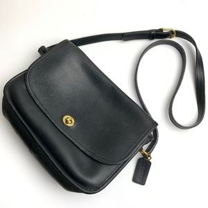 Coach Vintage Black Leather City Bag 9790